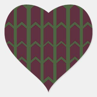 Dark Colored Panel Fence Heart Sticker