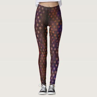 Dark Colored Polkadot Leggings