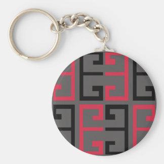 Dark Colored Tile Keychain