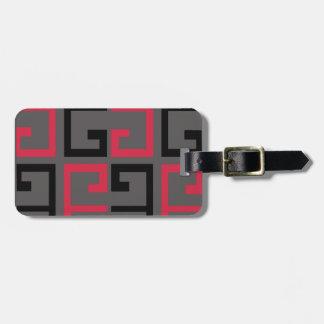 Dark Colored Tile Luggage Tag