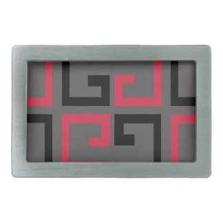 Dark Colored Tile Rectangular Belt Buckle