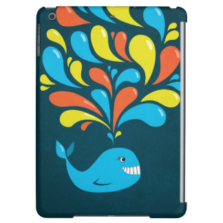 Dark Colorful Happy Cartoon Whale Lightweight iPad Air Case