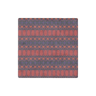 Dark colorful pattern stone magnet