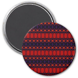 Dark colorful pattern fridge magnet