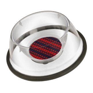 Dark colorful pattern pet bowl