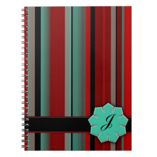 Dark Colorful Stripes Note Books