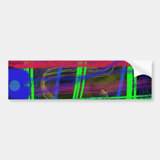 Dark Colors Abstract Brushes Bumper Sticker
