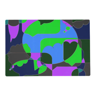 Dark Comic Abstract Placemat