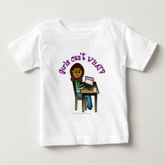 Dark Computer Girl Baby T-Shirt