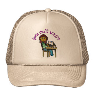 Dark Computer Girl Trucker Hat