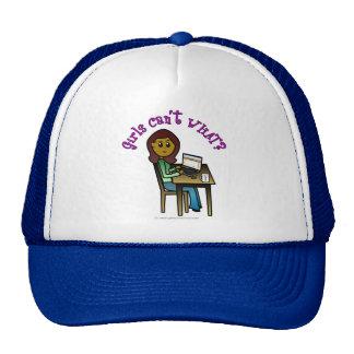 Dark Computer Girl Mesh Hats