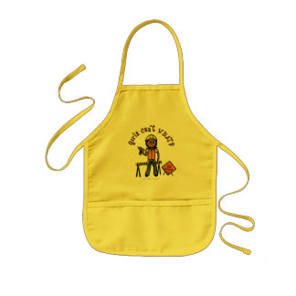 Dark Construction Girl Kids' Apron