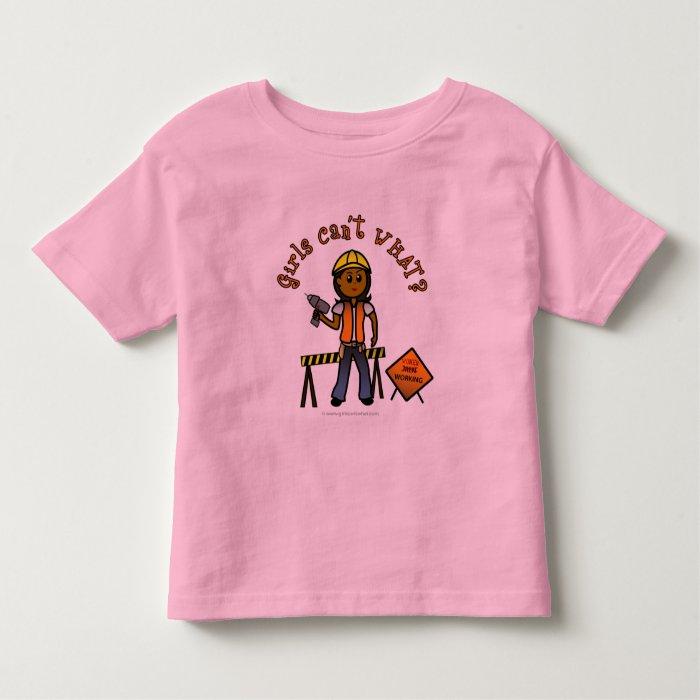Dark Construction Girl Toddler T-shirt