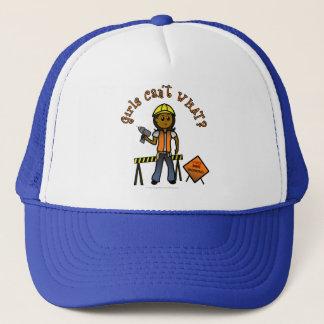 Dark Construction Girl Trucker Hat