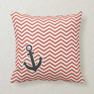 Dark Coral Throw Pillows : Nautical Baby Pillows - Decorative & Throw Pillows Zazzle