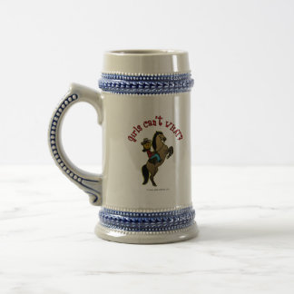 Dark Cowgirl on Horse Beer Stein
