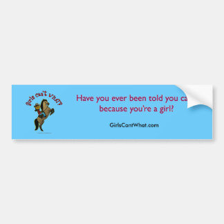 Dark Cowgirl on Horse Bumper Sticker