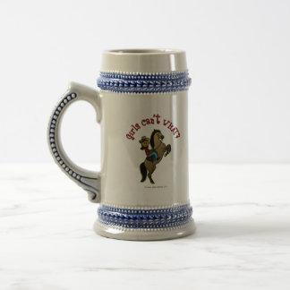 Dark Cowgirl on Horse Mug