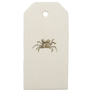 Dark Crab Photo Wooden Gift Tags