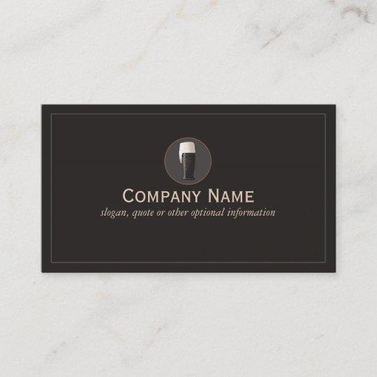 Dark craft beer cicerone brewery business card zazzle dark craft beer cicerone brewery business card colourmoves