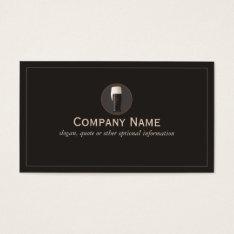 Dark Craft Beer Cicerone Brewery Business Card at Zazzle