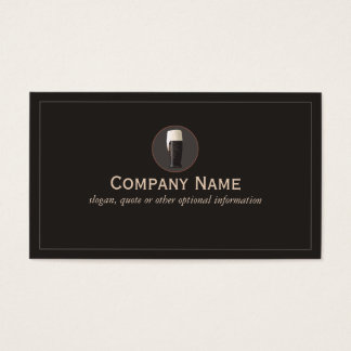 Dark Craft Beer Cicerone Brewery Business Card