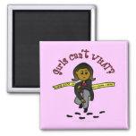 Dark CSI Girl 2 Inch Square Magnet