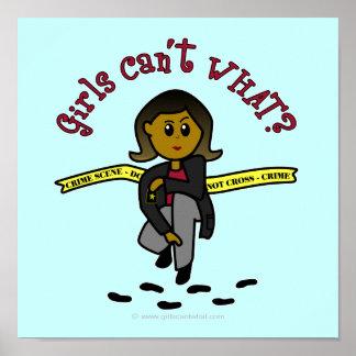 Dark CSI Girl Poster