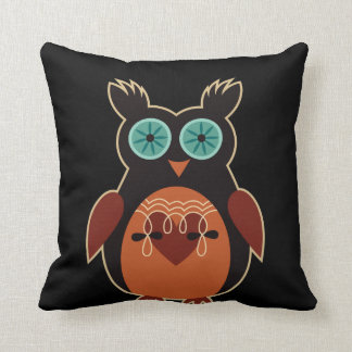 Dark Cute Retro Owl Pillow
