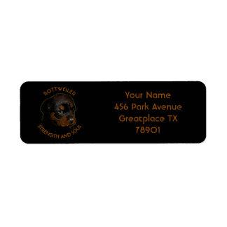 Dark Cute Rottweiler Puppy Dog Label
