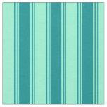 [ Thumbnail: Dark Cyan and Aquamarine Lined/Striped Pattern Fabric ]