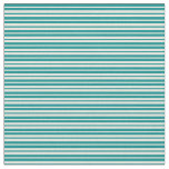 [ Thumbnail: Dark Cyan and Beige Colored Pattern of Stripes Fabric ]