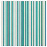 [ Thumbnail: Dark Cyan and Bisque Colored Lines Fabric ]