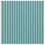 [ Thumbnail: Dark Cyan and Dark Grey Colored Stripes Fabric ]