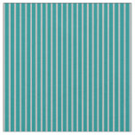[ Thumbnail: Dark Cyan and Grey Striped/Lined Pattern Fabric ]