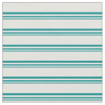 [ Thumbnail: Dark Cyan and Light Cyan Colored Lines Fabric ]