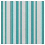 [ Thumbnail: Dark Cyan and Light Gray Lined/Striped Pattern Fabric ]