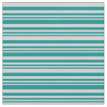 [ Thumbnail: Dark Cyan and Light Grey Colored Lines Pattern Fabric ]
