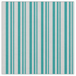 [ Thumbnail: Dark Cyan and Light Grey Colored Pattern Fabric ]