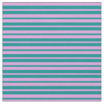 [ Thumbnail: Dark Cyan and Plum Colored Lines Pattern Fabric ]