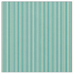 [ Thumbnail: Dark Cyan and Tan Lines Pattern Fabric ]