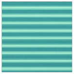 [ Thumbnail: Dark Cyan & Aquamarine Colored Stripes Fabric ]