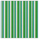 [ Thumbnail: Dark Cyan, Bisque, and Green Stripes Pattern Fabric ]