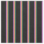 [ Thumbnail: Dark Cyan, Dark Orange, Violet, and Black Colored Fabric ]