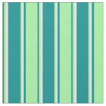 [ Thumbnail: Dark Cyan, Green, and White Colored Pattern Fabric ]