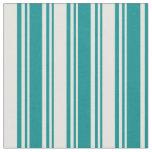 [ Thumbnail: Dark Cyan & Light Cyan Stripes Fabric ]