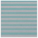 [ Thumbnail: Dark Cyan & Light Pink Colored Pattern Fabric ]
