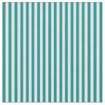 [ Thumbnail: Dark Cyan & Mint Cream Pattern of Stripes Fabric ]