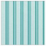[ Thumbnail: Dark Cyan & Turquoise Lines/Stripes Pattern Fabric ]