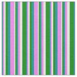 [ Thumbnail: Dark Cyan, Violet, White, and Green Pattern Fabric ]